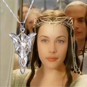 Lord of the rings pendant Arwen Evenstar silver